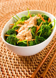 Broccoli with tofu Royalty Free Stock Photo