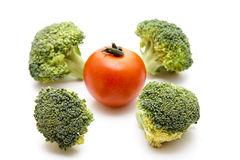 Broccoli with tomato Royalty Free Stock Image