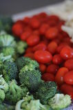 Broccoli with Tomatoes stock photos
