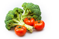 Broccoli and tomatoes Royalty Free Stock Photo