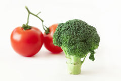 Broccoli and tomatoes Royalty Free Stock Images