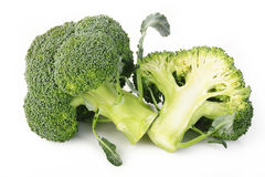 Broccoli vegetable isolated on white Royalty Free Stock Images