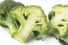 Broccoli vegetable isolated on white Royalty Free Stock Photography