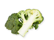 Broccoli vegetable isolated on white background. Royalty Free Stock Photos