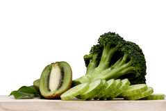 Broccoli vegetable set on white background Royalty Free Stock Image