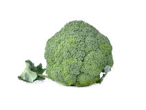 Broccoli vegetable on white background. Broccoli vegetable isolated on white background Stock Photography