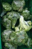 Broccoli voor verkoop Stock Foto's