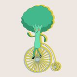 Broccoli on a wheel Stock Photography