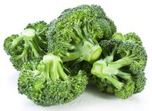 Broccoli on a white Stock Images