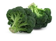Broccoli on white, Royalty Free Stock Photo