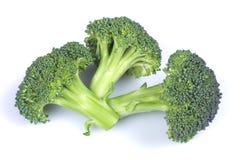 Broccoli on white. Fresh green broccoli flowers isolated on white background Stock Photo