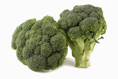 Broccoli on white background. With shadows Stock Photo