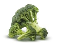Broccoli  on white background. Broccoli  on a white background with a clipping path Royalty Free Stock Photography