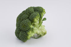 Broccoli. On white background - healthy food Stock Photos