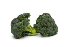 Broccoli on white background Stock Photos