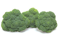 Broccoli in a white background. Pictured broccoli in a white background Stock Image