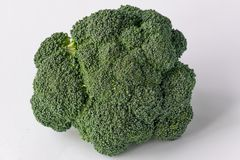 Broccoli  on white background. Pieces of fresh broccoli  on white background Royalty Free Stock Images