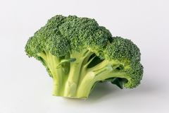 Broccoli  on white background. Pieces of fresh broccoli  on white background Stock Images