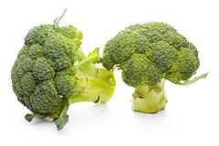 Broccoli  on white background. Raw Broccoli  on the white background Royalty Free Stock Images