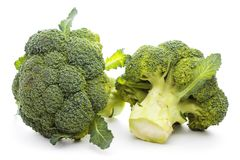 Broccoli  on white background. Raw Broccoli  on the white background Stock Photography