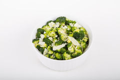 Broccoli in a White Casserole with Parmesan Cheese Stock Photos