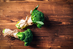 Broccoli on a wooden table. Broccoli on a wooden   board Royalty Free Stock Image