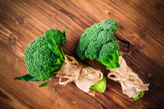 Broccoli on a wooden table. Broccoli on a wooden   board Royalty Free Stock Photo
