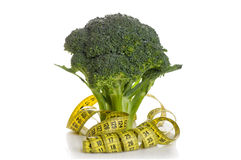 Broccoli wrapped in a meter Royalty Free Stock Images