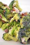 Broccolibaconsallad Arkivfoto