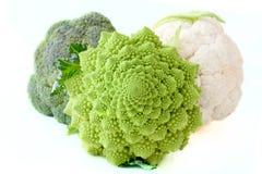 broccoliculiflowerromanesco Fotografering för Bildbyråer