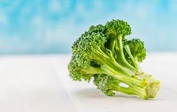 BroccoliFlorets med kopieringsutrymme på vänstersida Royaltyfri Bild