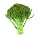 Broccolikål som isoleras på vit bakgrund med den snabba banan Arkivbild