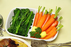 Broccolini And Carrots Royalty Free Stock Photo
