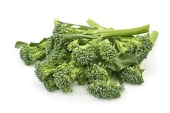 Broccolini on a white background Stock Photo