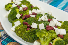 Broccolisalladnärbild Royaltyfri Bild