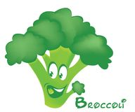 Broccoli smile stock photography
