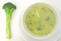 BroccoliSoup Royaltyfri Foto
