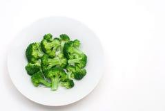 Broccolo bollito Fotografia Stock Libera da Diritti