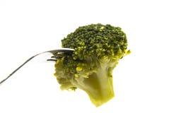 Broccolo cotto a vapore Fotografie Stock Libere da Diritti