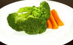 Broccolo e carota Fotografia Stock