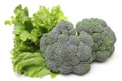 Broccolo e lattuga Immagini Stock Libere da Diritti