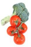 Broccolo e pomodoro Fotografia Stock Libera da Diritti