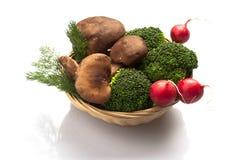 Broccolo e ravanello del fungo Immagini Stock Libere da Diritti