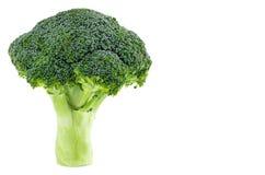 Broccolo fresco isolato su priorità bassa bianca Con il percorso di ritaglio Immagini Stock Libere da Diritti