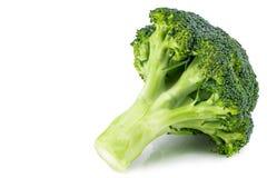 Broccolo fresco isolato su priorità bassa bianca Con il percorso di ritaglio Fotografia Stock