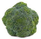 Broccolo fresco isolato su priorità bassa bianca Con il percorso di ritaglio Immagine Stock Libera da Diritti