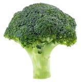 Broccolo fresco isolato su priorità bassa bianca Con il percorso di ritaglio Fotografie Stock Libere da Diritti
