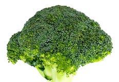 Broccolo fresco isolato su priorità bassa bianca Con il percorso di ritaglio Fotografia Stock Libera da Diritti