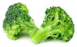 Broccolo fresco isolato su priorità bassa bianca Con il percorso di ritaglio Immagine Stock