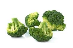 Broccolo fresco isolato su una priorità bassa bianca Immagine Stock Libera da Diritti